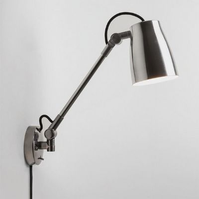 Atelier Grande Wall Light in Chrome with Removable Plug & Lead Set, Switched - astro 1224014 (7503)